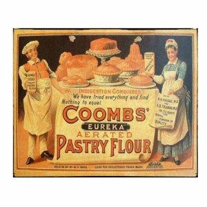 Ρετρό Διαφήμιση με Αλεύρι Ζαχαροπλαστικής Coombs