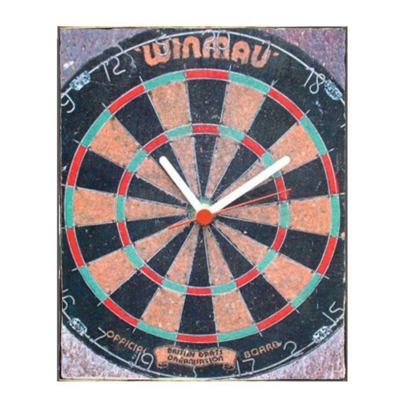 Ρετρό παιχνίδι στόχος Ρολόι τοίχου χειροποίητο
