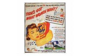 Ρετρο Πίνακας με διαφήμιση Tide