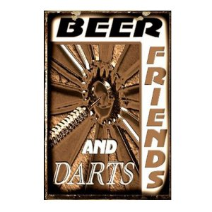 Ρετρό Πίνακας Χειροποίητος Beer and Friends 20 x 30 cm