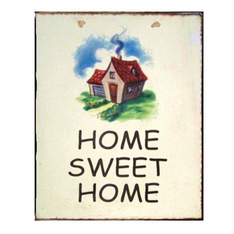 Ρετρό Πίνακας Χειροποίητος  Home Sweet Home