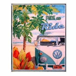Ride - Ρετρό Πίνακας Χειροποίητος