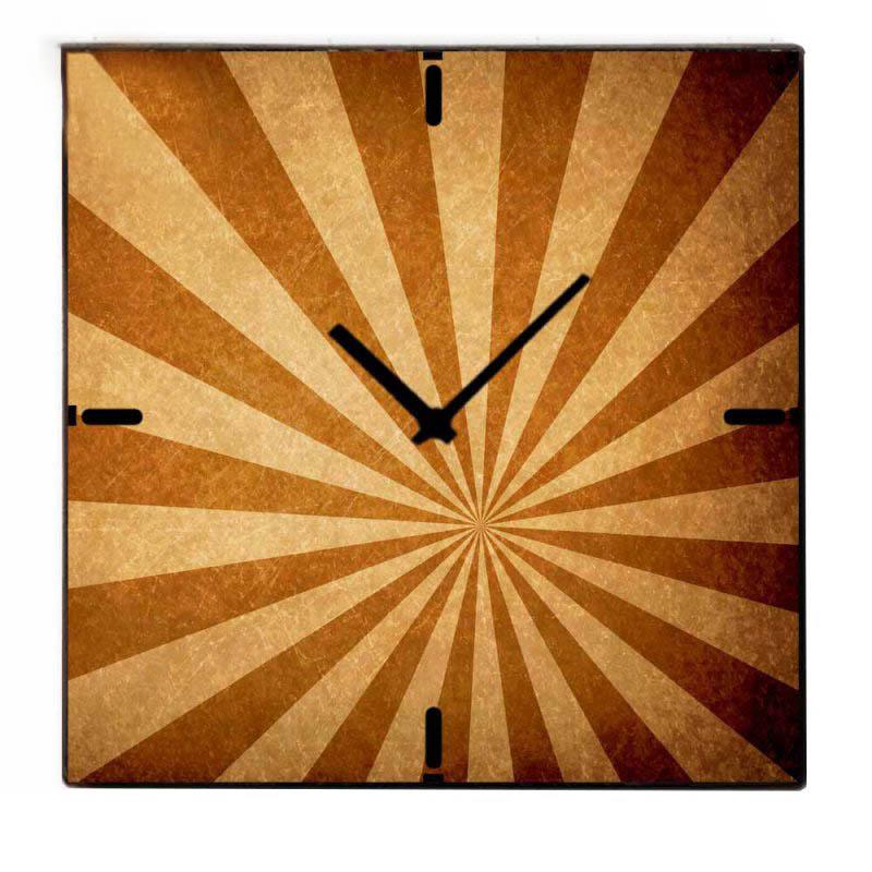 Retro Τετράγωνο Ξύλινο Χειροποίητο Ρολόι  Χειροποίητο 60cm