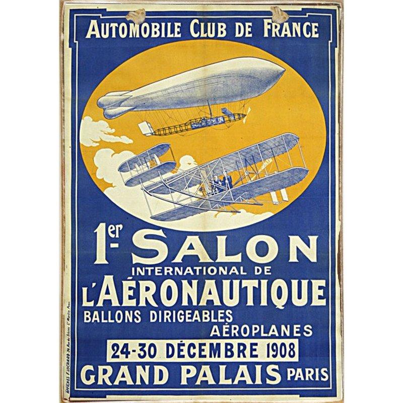 Sign Πίνακας Χειροποίητος 1er Salon Aeronautique 21cm X 30cm