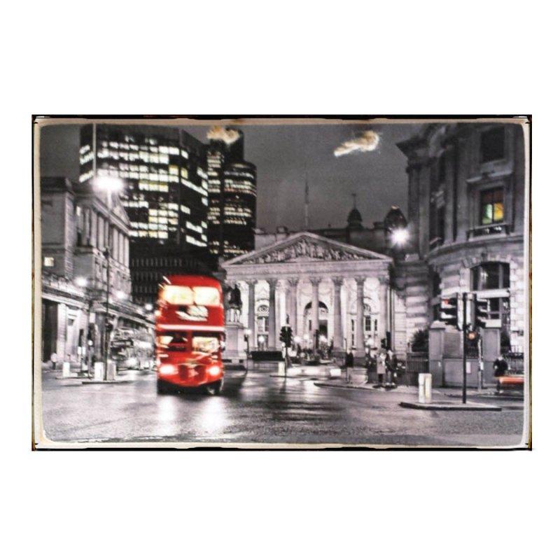 Sign Πίνακας Χειροποίητος  20cm X 30cm  Ασπρόμαυρη εικόνα London