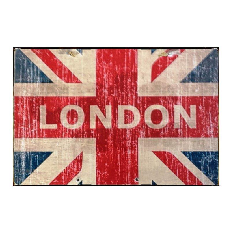 Sign Πίνακας Χειροποίητος  20cm X 30cm Vintage Αγγλική Σημαία KIR1141
