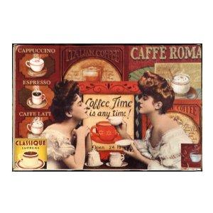 Sign Πίνακας Χειροποίητος  20cm X 30cm  Vintage Coffee Time KIR1143