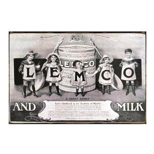 Sign Πίνακας Χειροποίητος  20cm X 30cm Vintage διαφήμιση Lemco  KIR1152