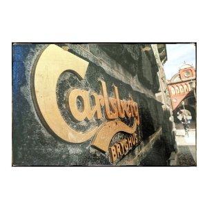 Sign Πίνακας Χειροποίητος  30cm X 40cm Carlsberg Vintage Photo KIR1137