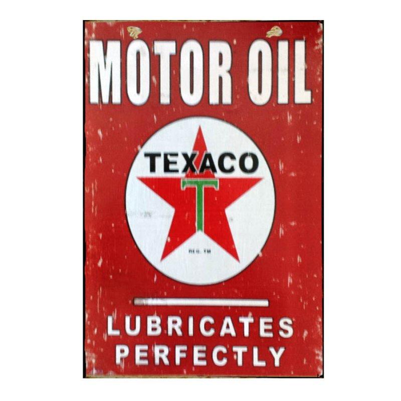 Sign Πίνακας Χειροποίητος  40cm X 30cm Διαφήμιση Vintage Motor Company   KIR1138