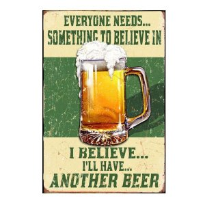 Sign Πίνακας Χειροποίητος Beer Lover's Quote 30x20cm