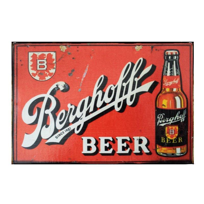 Sign Πίνακας Χειροποίητος Berghoff Beer 21x30 KIR-1309