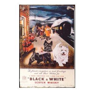 Sign Πίνακας Χειροποίητος Black & White Whiskey