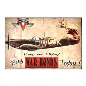 Sign Πίνακας Χειροποίητος  Buy War Bonds  20cm X 30cm  KIR1160