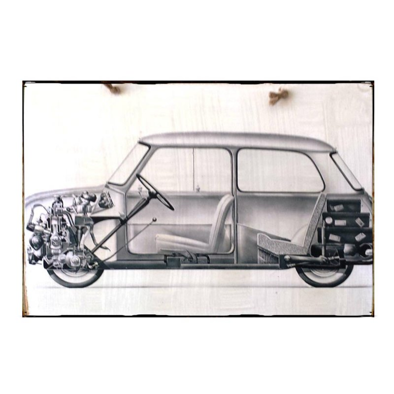 Sign Πίνακας Χειροποίητος Car Drawing