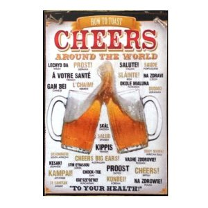 Sign Πίνακας Χειροποίητος Cheers Beer