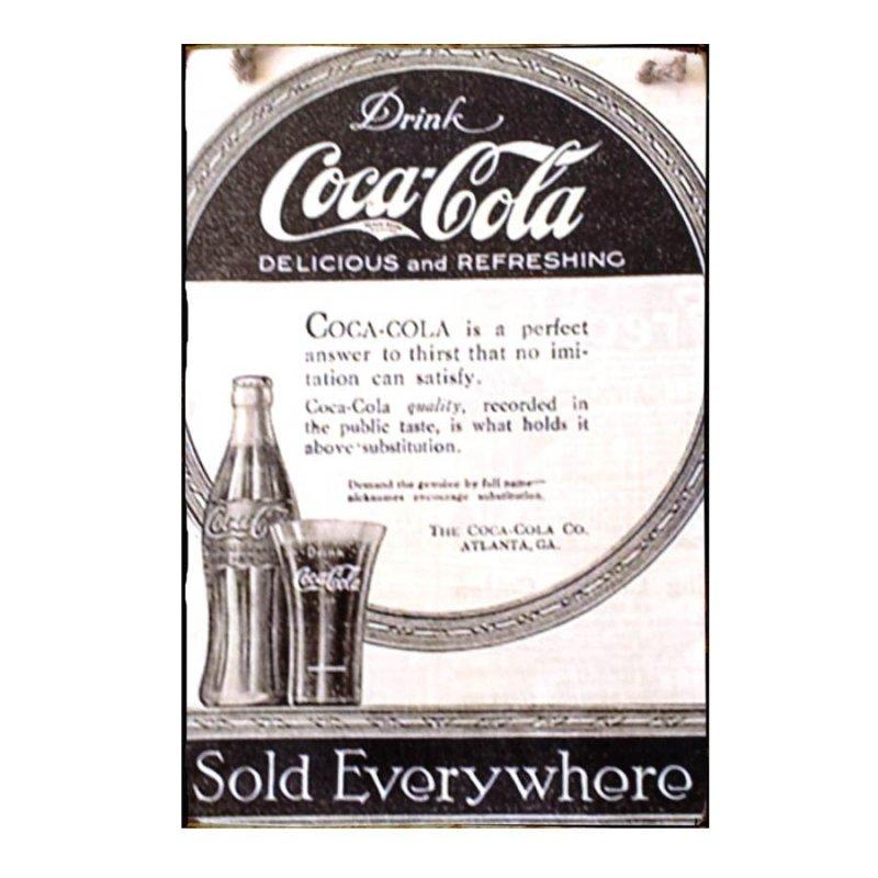 Sign Πίνακας Χειροποίητος Coca Cola Cap