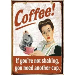 Sign Πίνακας Χειροποίητος Coffee 21cm X 30cm