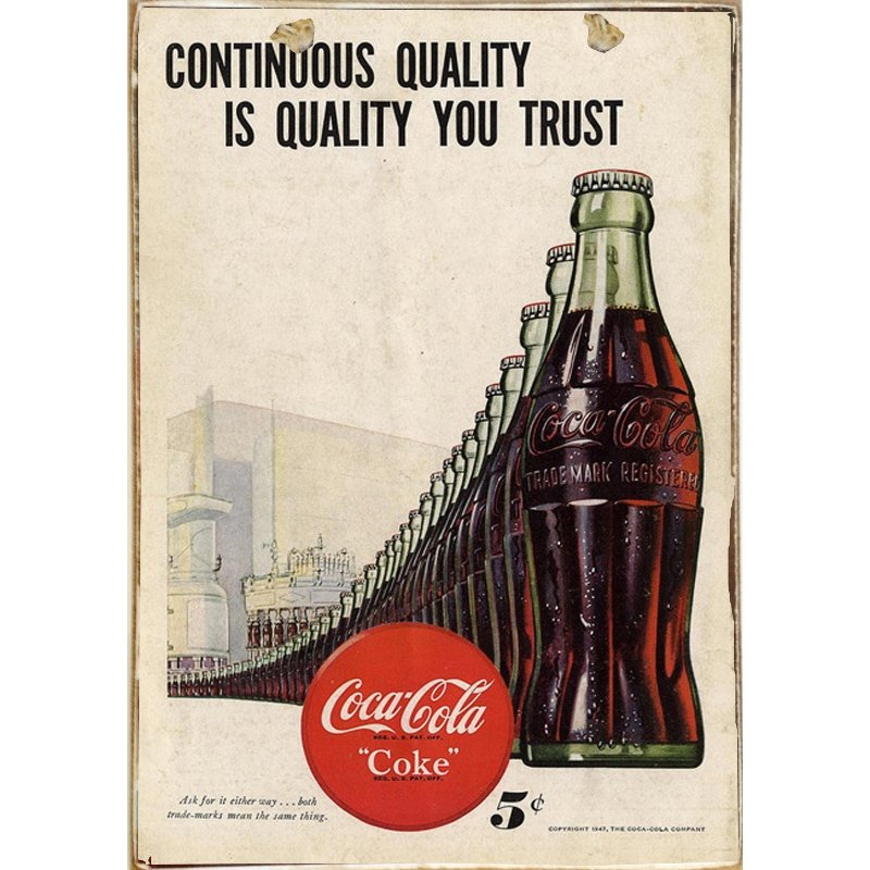 Sign Πίνακας Χειροποίητος Cola Bottles 21cm X 30cm