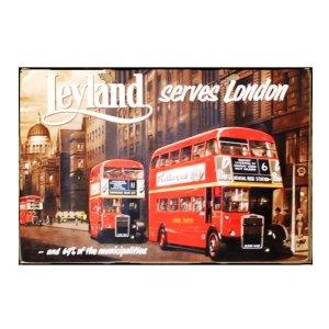Sign Πίνακας Χειροποίητος  διαφήμιση British Bus