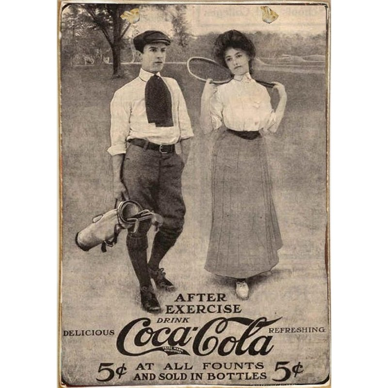 Sign Πίνακας Χειροποίητος Drink Coca Cola 21cm X 30cm