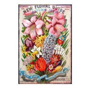 Sign Πίνακας Χειροποίητος Flowers  21cm X 30cm