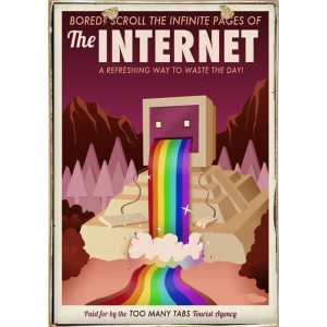 Sign Πίνακας Χειροποίητος Fun Internet 21cm X 30cm