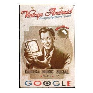 Sign Πίνακας Χειροποίητος Google Vintage  21cm X 30cm