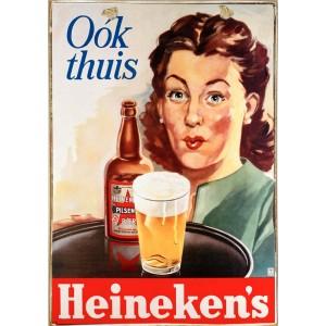 Sign Πίνακας Χειροποίητος Heineken 21cm X 30cm
