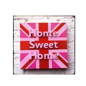 Sign Πίνακας Χειροποίητος Home sweet home 21x21 KIR-1320