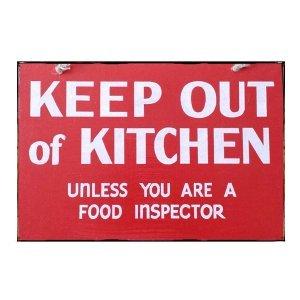 Sign Πίνακας Χειροποίητος Keep out of Kitchen!