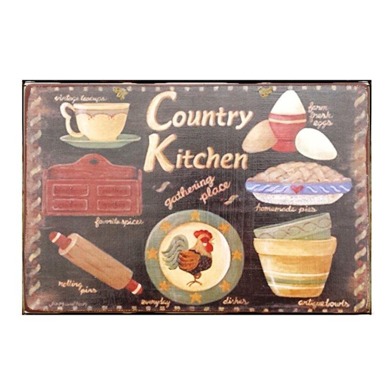Sign Πίνακας Χειροποίητος Kitchen 20x30cm