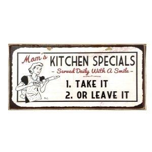 Sign Πίνακας Χειροποίητος  Kitchen Specials 13x26 cm