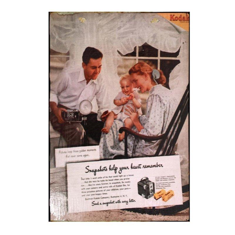 Sign Πίνακας Χειροποίητος Kodak 21x30 KIR-1319
