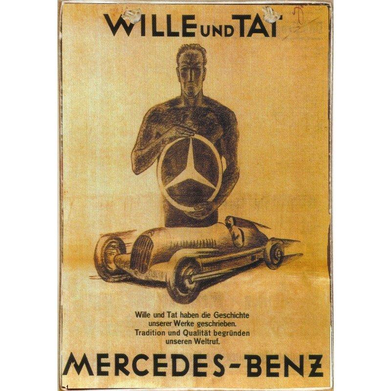 Sign Πίνακας Χειροποίητος Mercedes Benz 21cm X 30cm