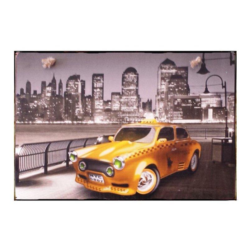 Sign Πίνακας Χειροποίητος New York Taxi