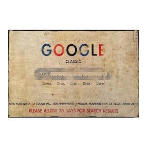 Sign Πίνακας Χειροποίητος  Πως θα ηταν το Google…? 20cm X 30cm  KIR1157
