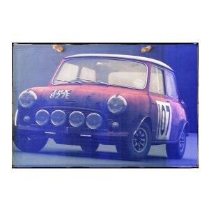 Sign Πίνακας Χειροποίητος Rally Mini Cooper