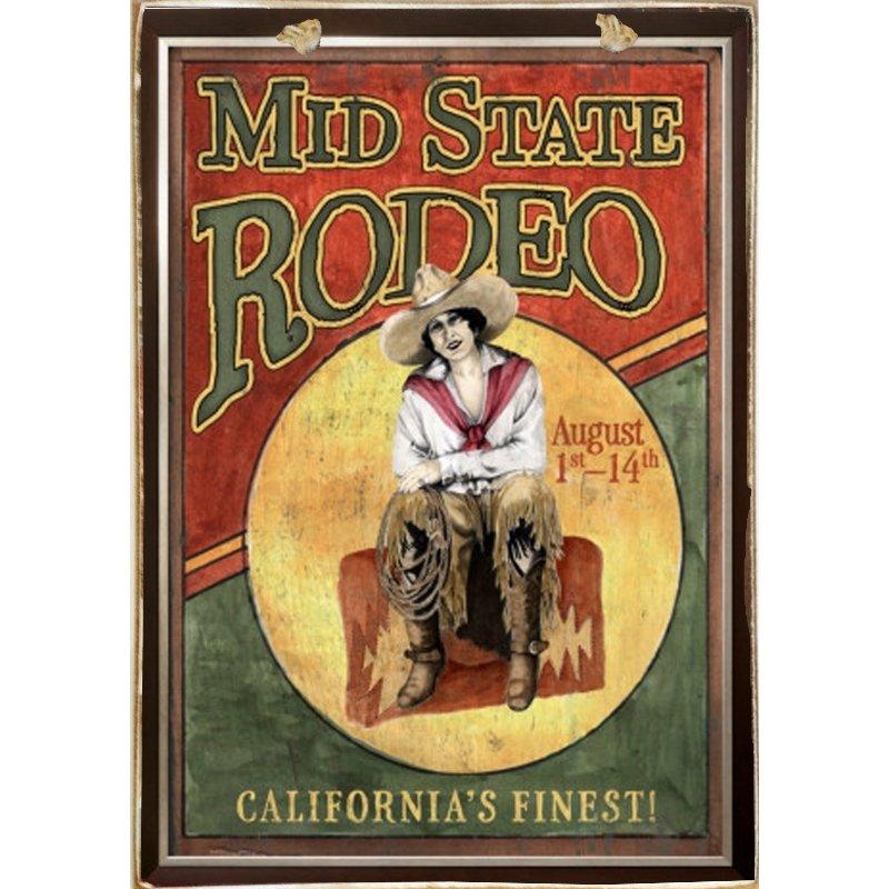 Sign Πίνακας Χειροποίητος Rodeo 21cm X 30cm