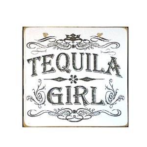 Sign Πίνακας Χειροποίητος Tequila Girl  21cm X 21cm