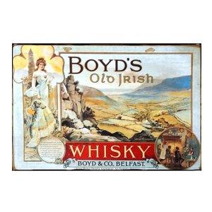 Sign Πίνακας Χειροποίητος Vintage διαφήμιση Boyd's Whiskey   20cm X 30cm  KIR1163
