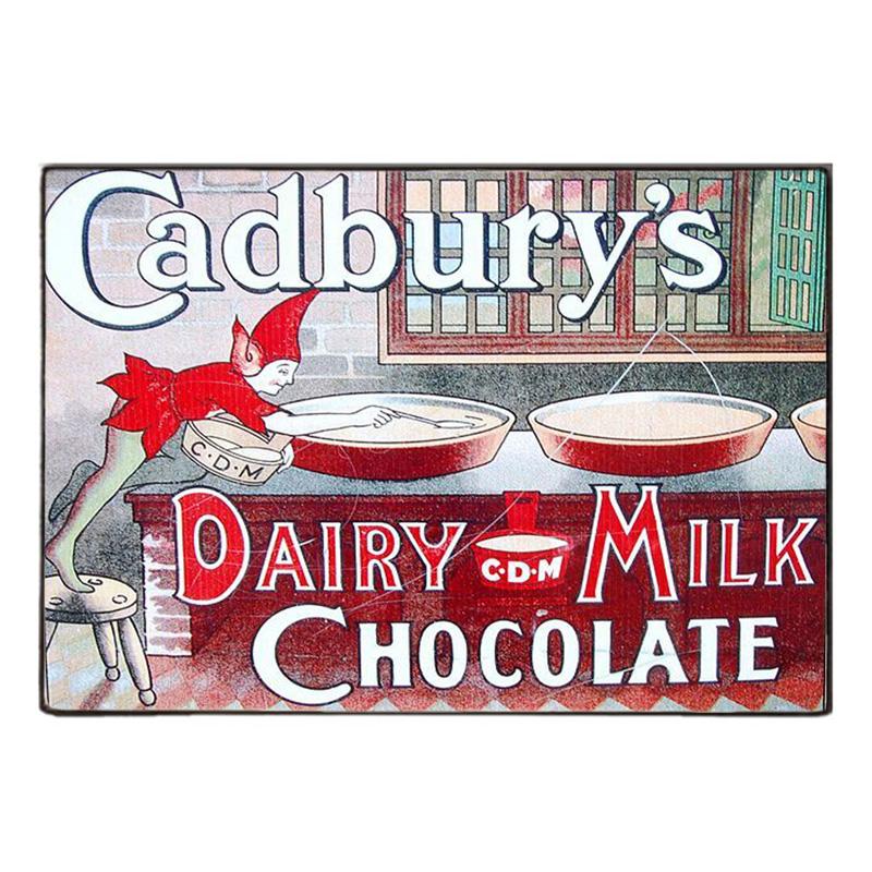Sign Πίνακας Χειροποίητος  Vintage διαφήμιση Cadbury's 20cm X 30cm  KIR1171