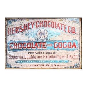 Sign Πίνακας Χειροποίητος Vintage διαφήμιση Hershey Chocolate 20cm X 30cm  KIR1164