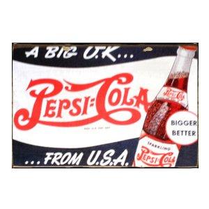 Sign Πίνακας Χειροποίητος  Vintage διαφήμιση Pepsi Cola 20cm X 30cm  KIR1158