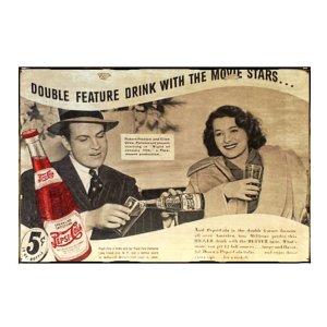 Sign Πίνακας Χειροποίητος  Vintage διαφήμιση Pepsi Cola 20cm X 30cm  KIR1159