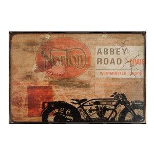Sign Πίνακας Χειροποίητος Vintage Motorcycle 21x30 KIR-1303