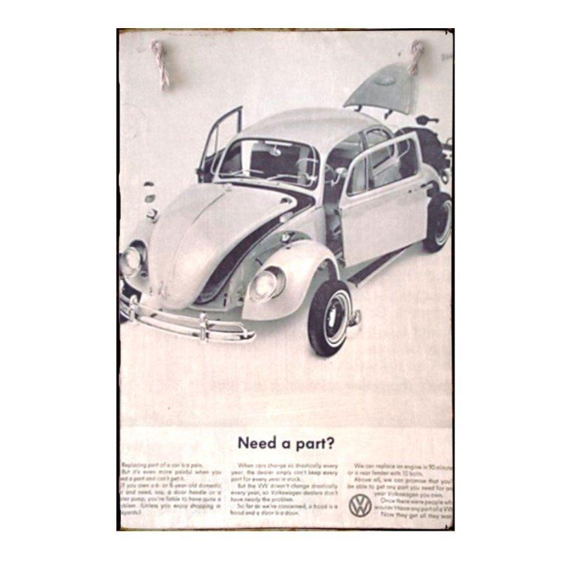 Sign Πίνακας Χειροποίητος Volkswagen Parts