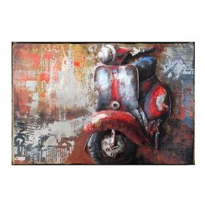 Sign Πίνακας Χειροποίητος ζωγραφιά μηχανάκι 20cm X 30cm  KIR1156