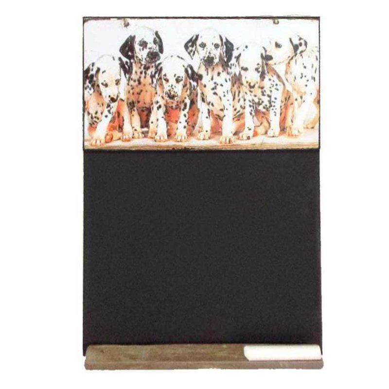 Σκυλάκια Δαλματίας - Χειροποίητος Μαυροπίνακας