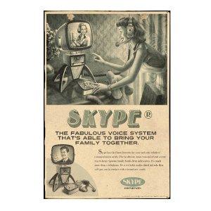 Skype Πίνακας Χειροποίητος  21cm X 30cm  1112